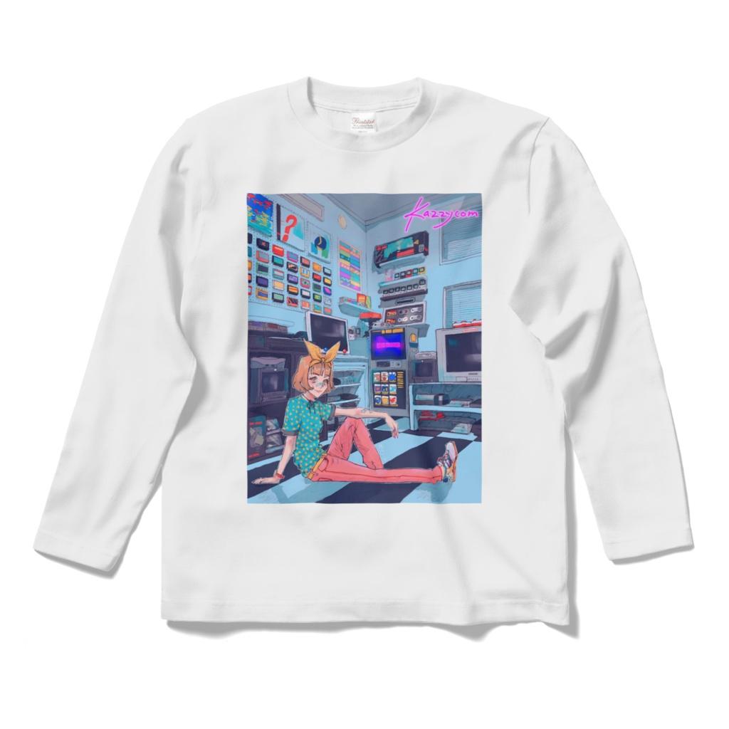 カジコムの部屋ロングスリーブTシャツ