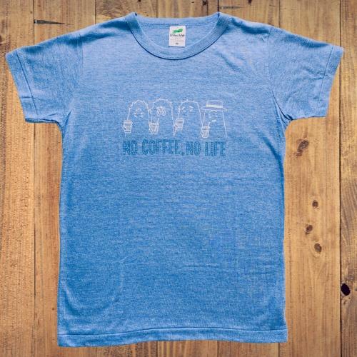 へんないきものCOFFEE Tシャツ ブルー