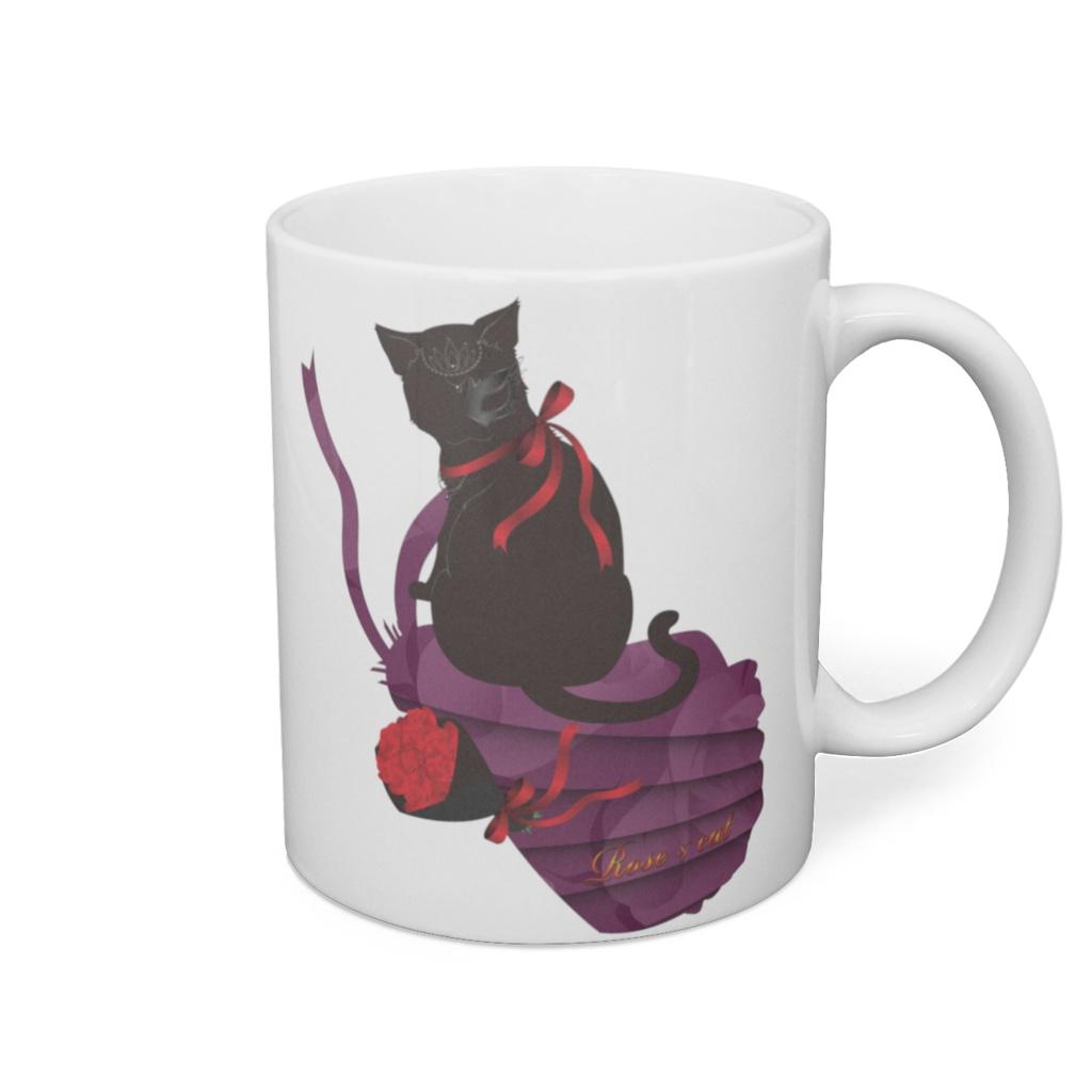 薔薇と猫 LADIES  マグカップ