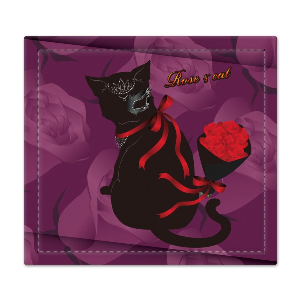 薔薇と猫 LADIES  捺印マット