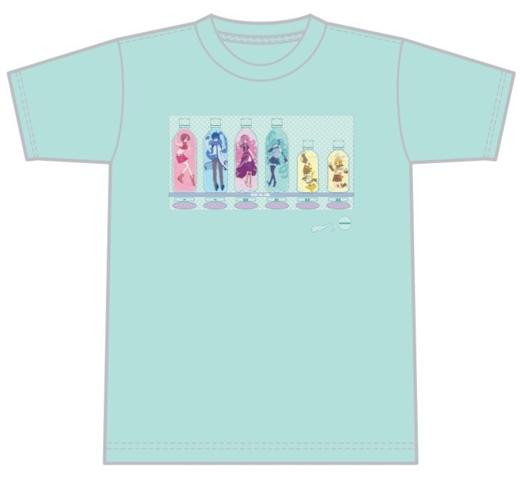 ボカロ自販機柄Tシャツ【Mサイズ/ミント】