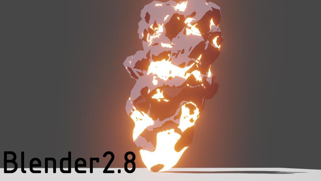 Blenderのモディファイアによる爆発の作り方