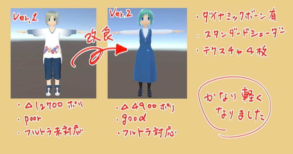 【20190307改良】VRChat用アバター:マリ ver2.0
