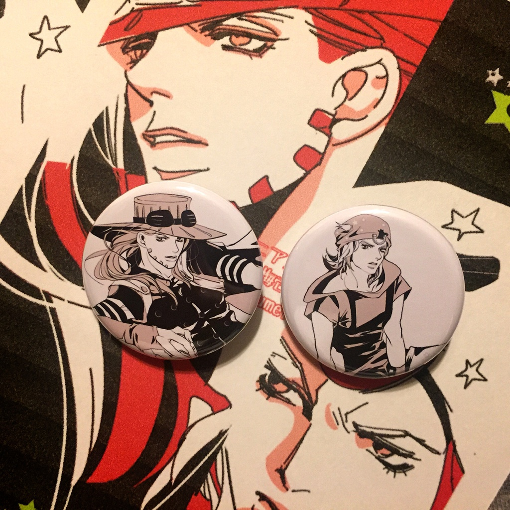 ⭐︎ジョジョ⭐︎ 7部 缶バッジAセット : ジャイロ&ジョニィ