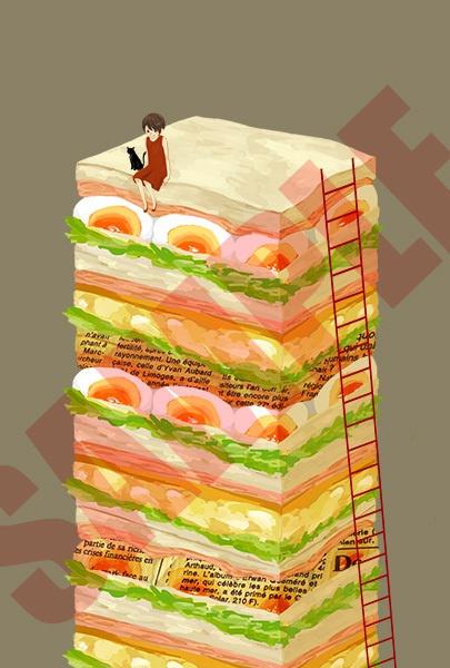 サンドウィッチのポストカード