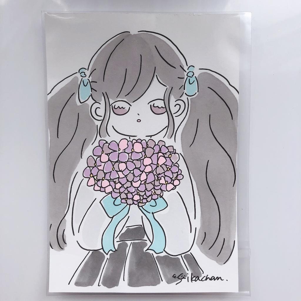 ドローイング③/紫陽花